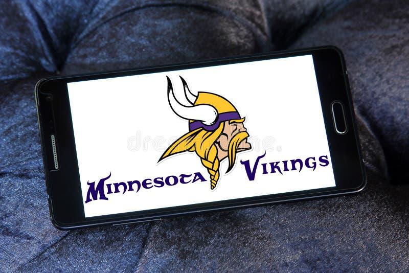 Logotipo americano da equipa de futebol dos Minnesota Vikings foto de stock