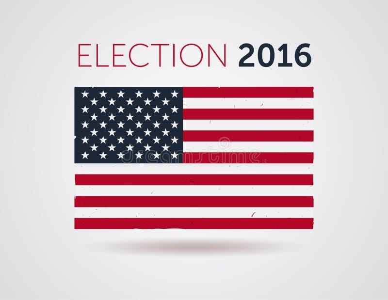 Logotipo americano de la insignia del emblema de la elección 2016 con el texto libre illustration
