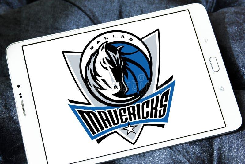 Logotipo americano del equipo de baloncesto de Dallas Mavericks imagen de archivo