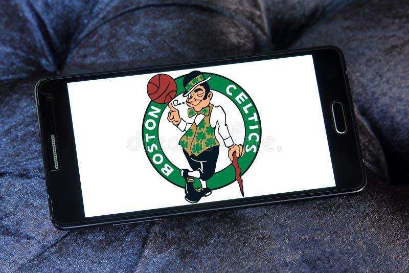 Logotipo americano del equipo de baloncesto de los Celtics de Boston fotografía de archivo