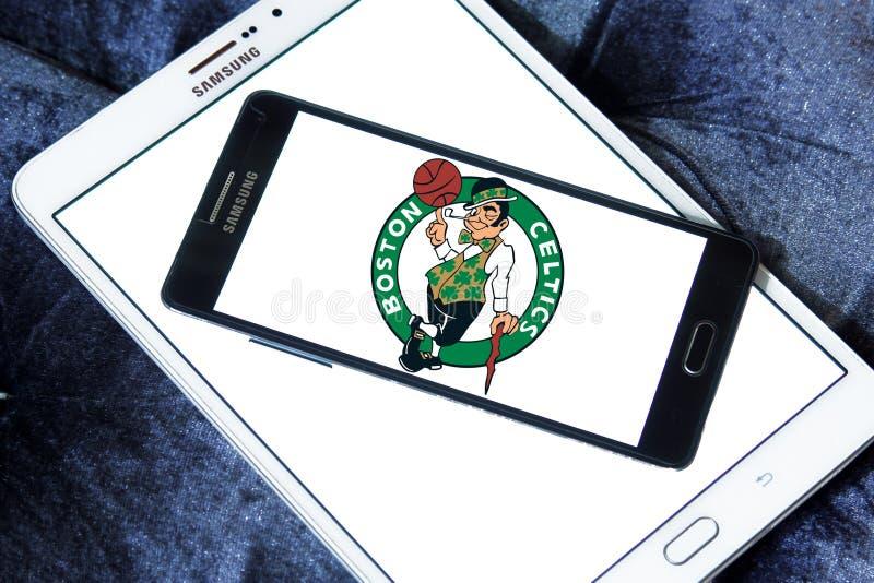 Logotipo americano del equipo de baloncesto de los Celtics de Boston foto de archivo