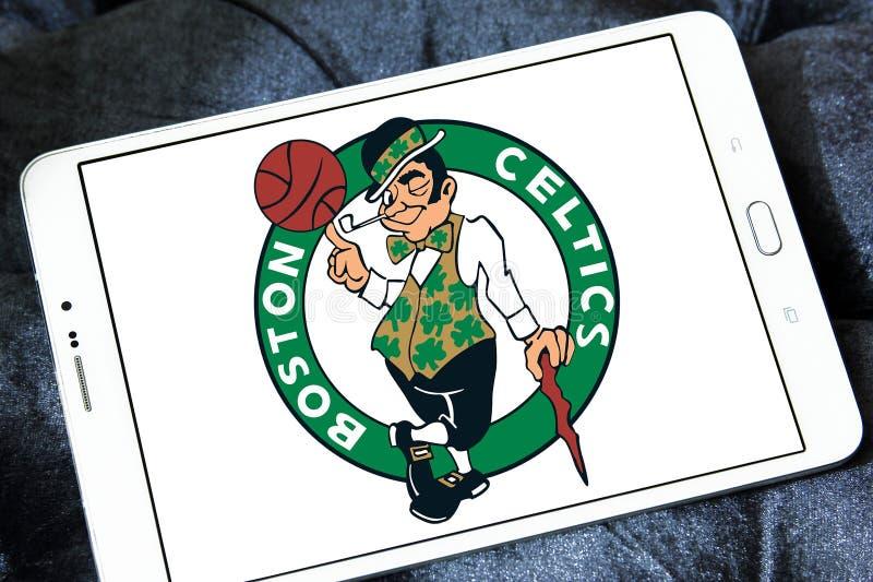 Logotipo americano del equipo de baloncesto de los Celtics de Boston imagen de archivo
