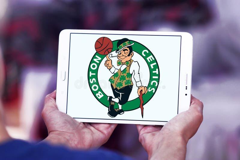 Logotipo americano del equipo de baloncesto de los Celtics de Boston fotografía de archivo libre de regalías