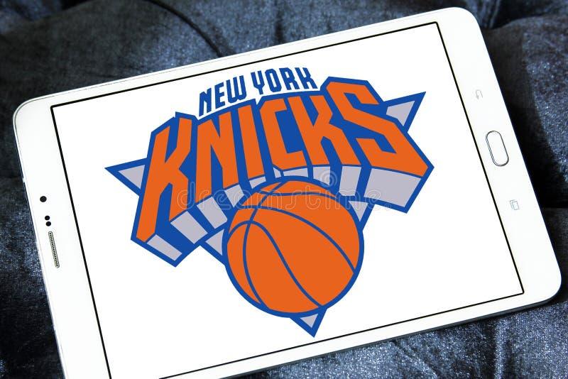 Logotipo americano del equipo de baloncesto de los New York Knicks imágenes de archivo libres de regalías