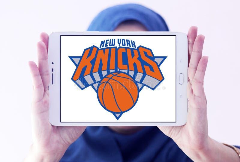 Logotipo americano del equipo de baloncesto de los New York Knicks fotos de archivo