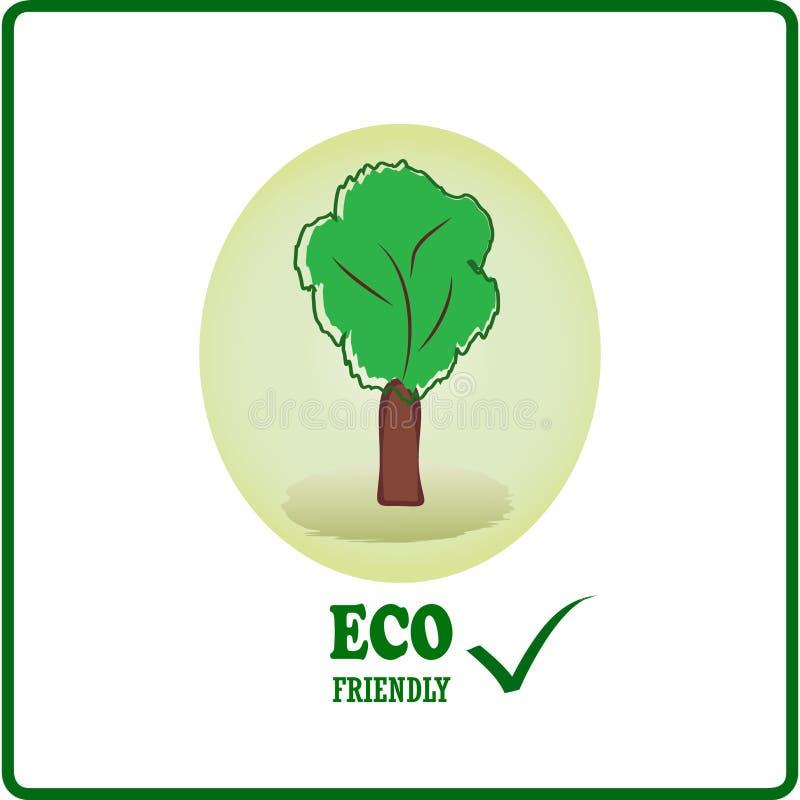 Logotipo amigável de Eco imagem de stock royalty free