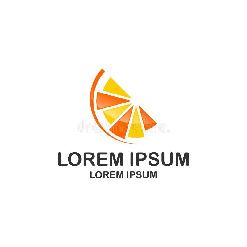 Logotipo anaranjado del vector de la fruta stock de ilustración