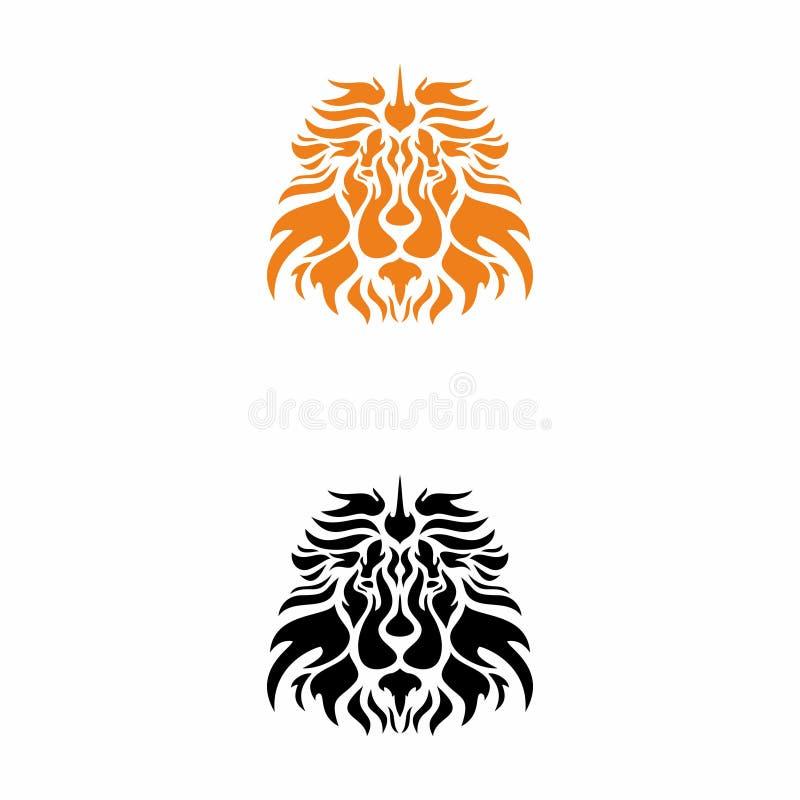 Logotipo anaranjado principal del león fotos de archivo