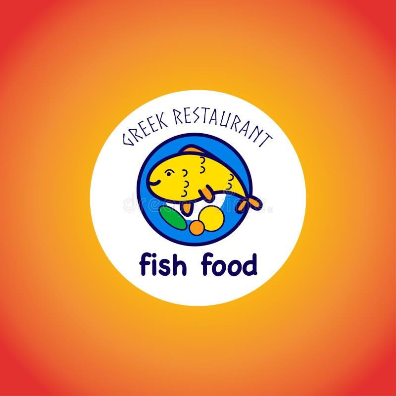 Logotipo animal do vetor no fundo do inclinação ilustração stock
