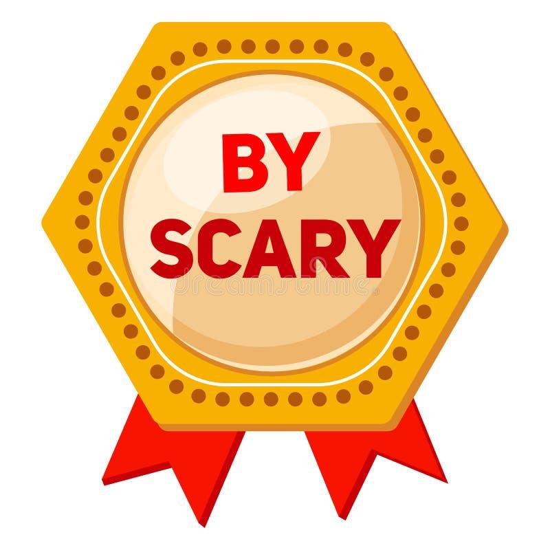 Logotipo assustador grande do emblema, estilo dos desenhos animados ilustração royalty free