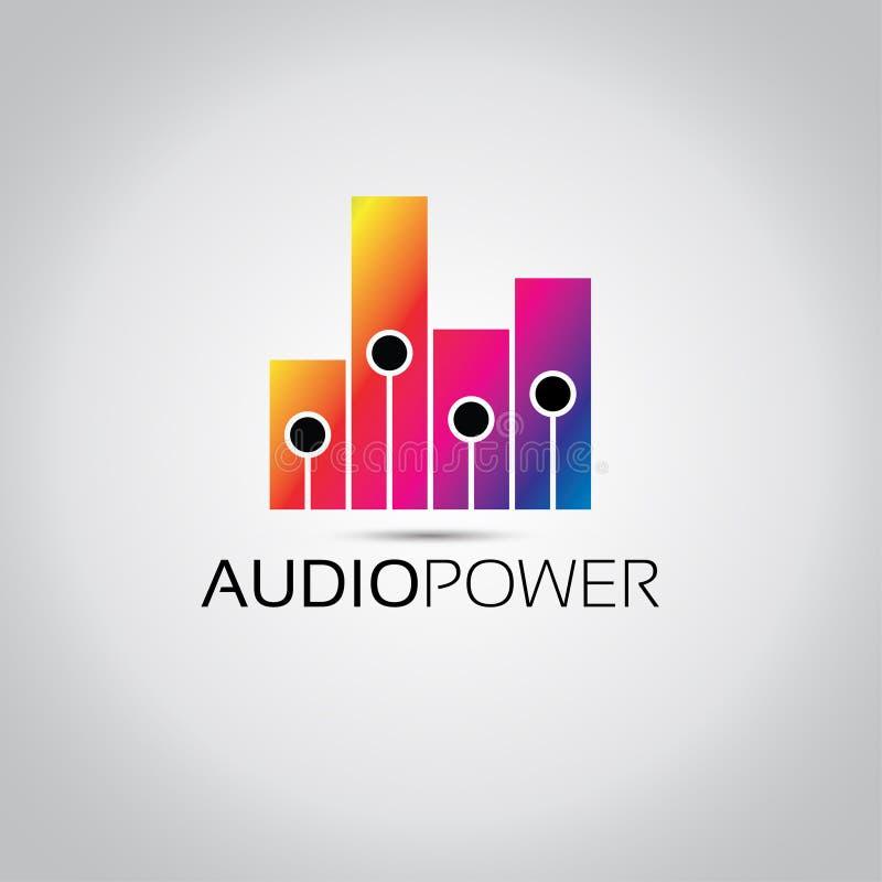 Logotipo audio del vector del equalizador ilustración del vector