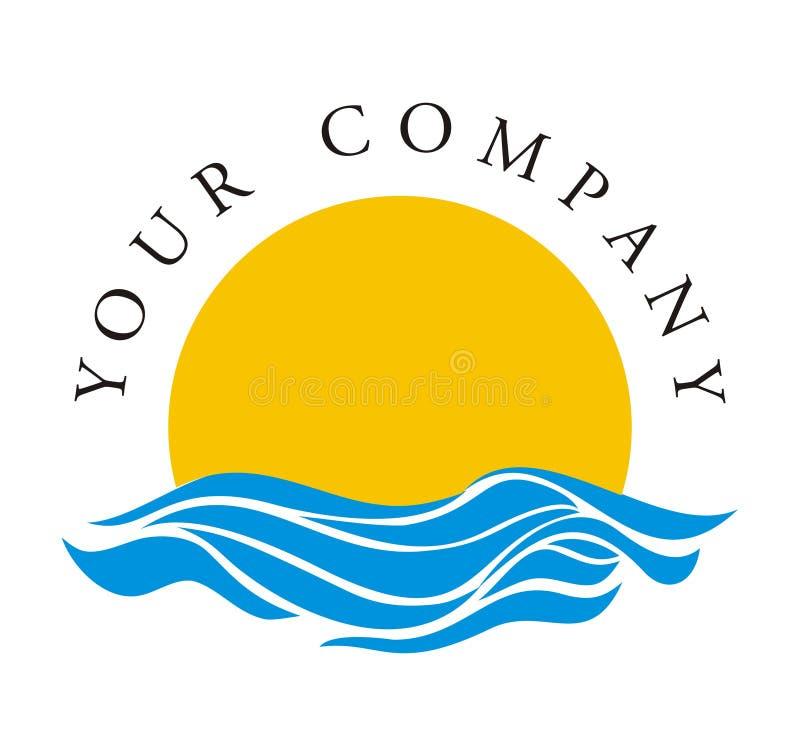 Logotipo - aumentação Sun ilustração royalty free