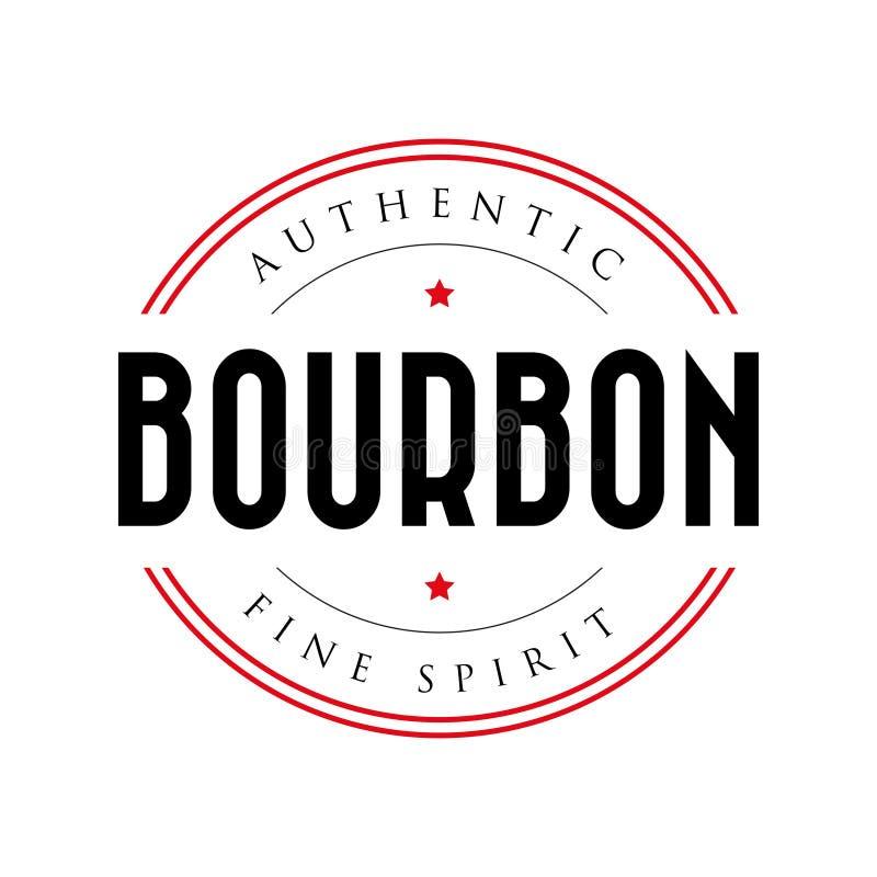 Logotipo auténtico del sello del vintage de Borbón libre illustration