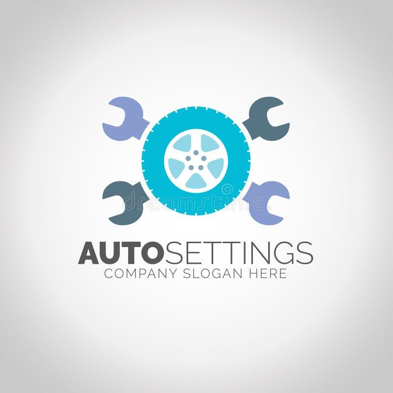 Logotipo auto de los ajustes stock de ilustración