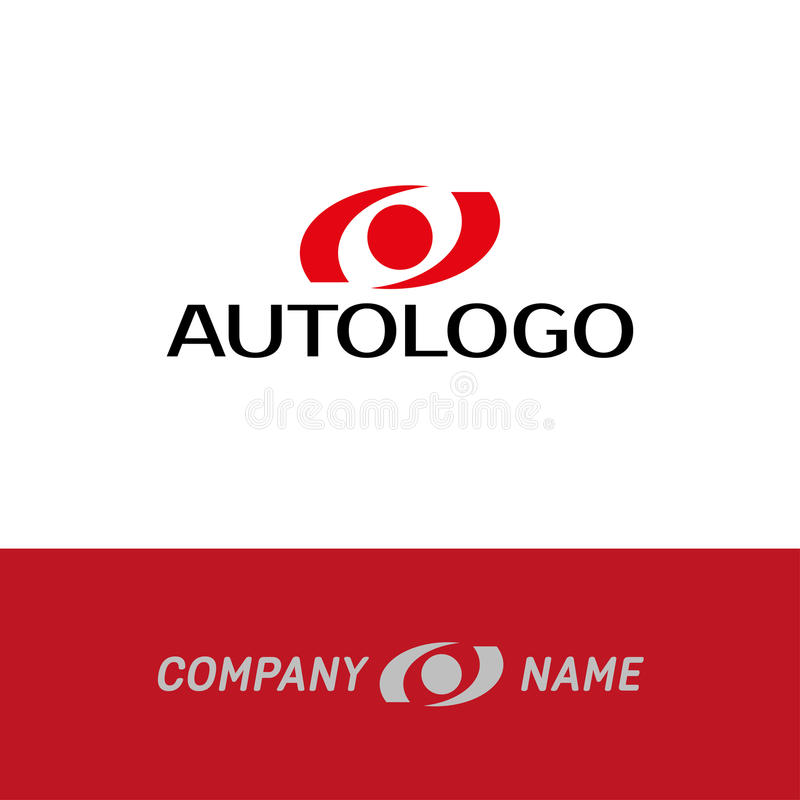 Logotipo auto del extracto del coche ilustración del vector