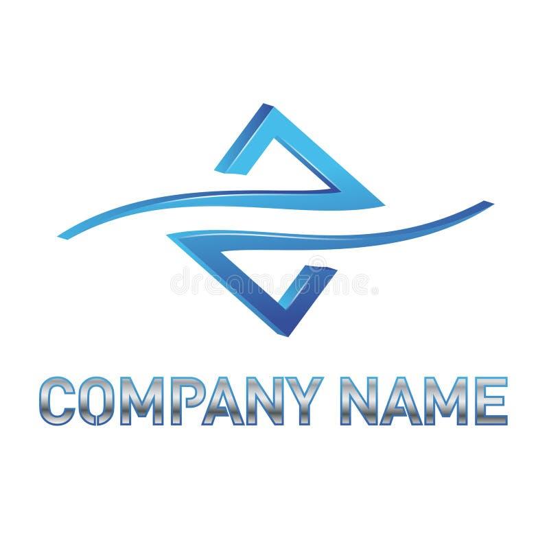 Logotipo azul da tecnologia ilustração do vetor
