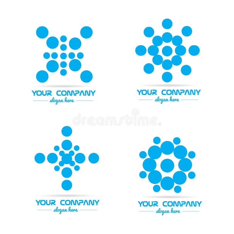 Logotipo azul de la burbuja del círculo ilustración del vector