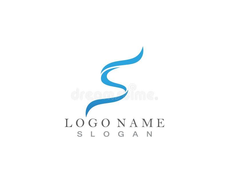 Logotipo azul de S ilustração royalty free