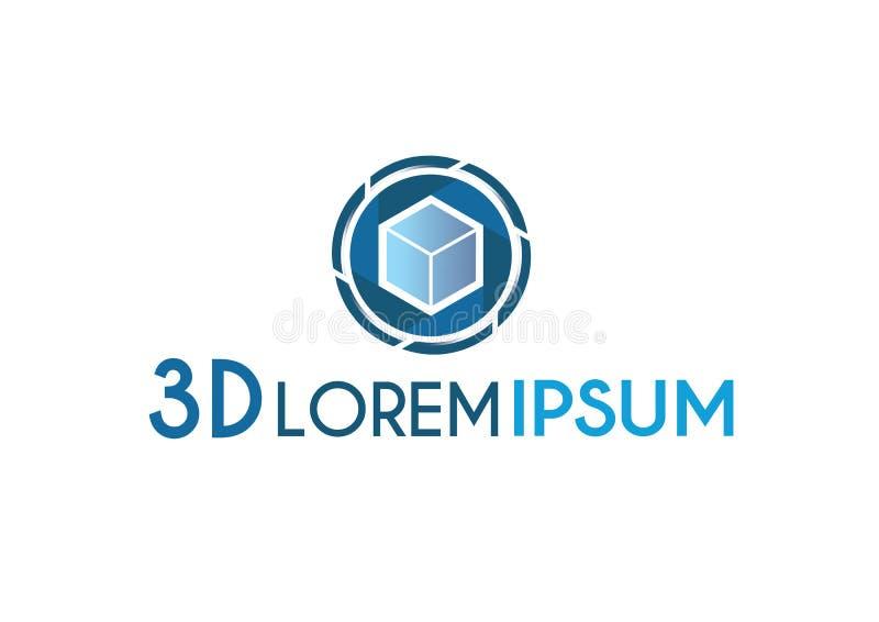 Logotipo azul moderno del negocio Ilustración del vector libre illustration