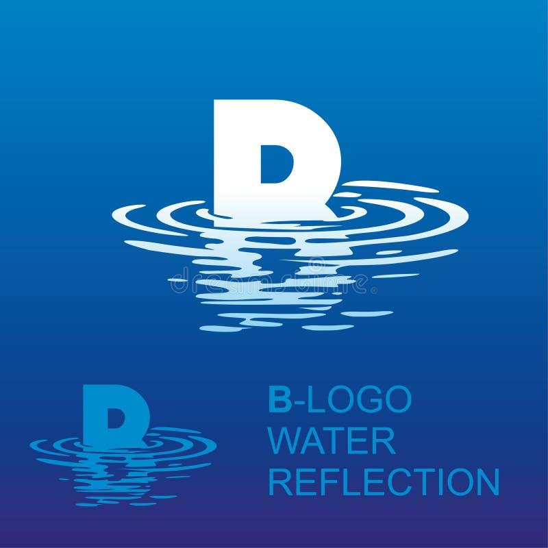Logotipo B da letra do espelho ilustração do vetor