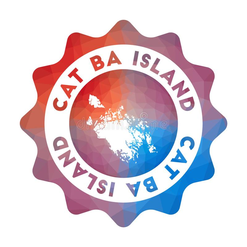 Logotipo baixo de polia da Cat Ba Island ilustração stock