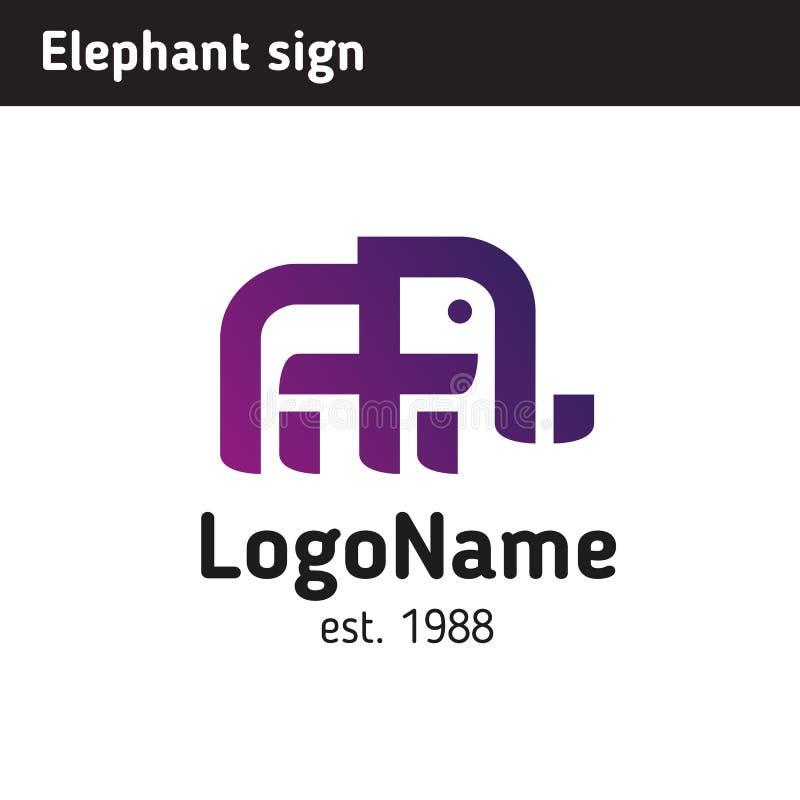 Logotipo bajo la forma de elefante stock de ilustración