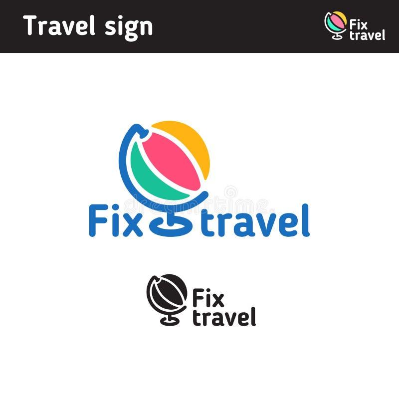 Logotipo bajo la forma de globo stock de ilustración