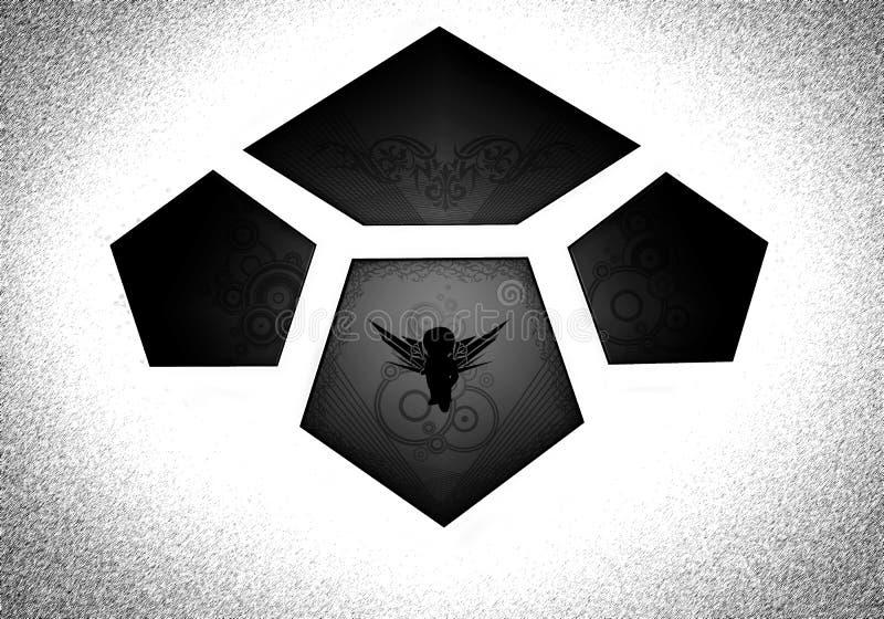 Logotipo bajo la forma de tejas foto de archivo