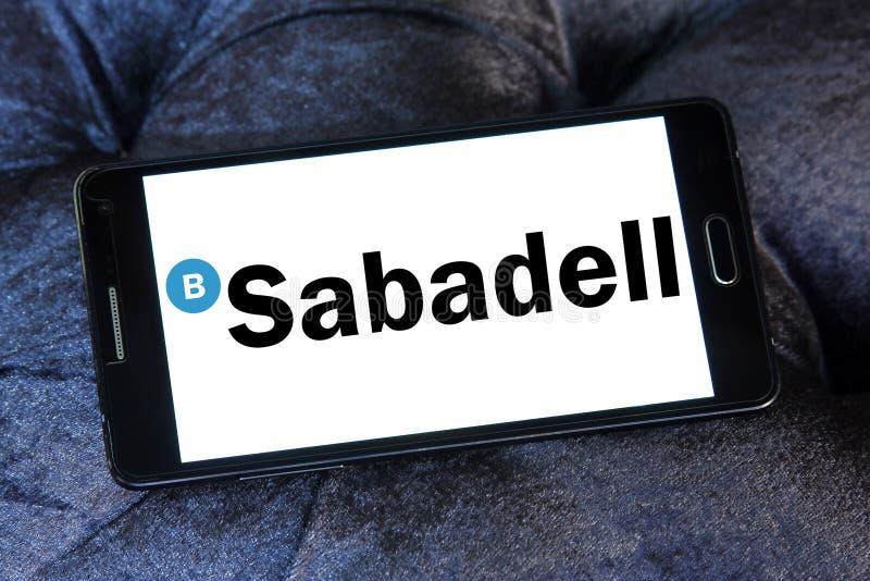 Logotipo banco del grupo de actividades bancarias de Sabadell foto de archivo libre de regalías