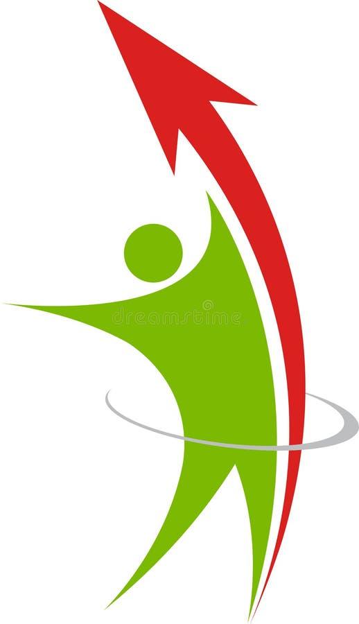 Logotipo bem sucedido do homem de negócios ilustração royalty free