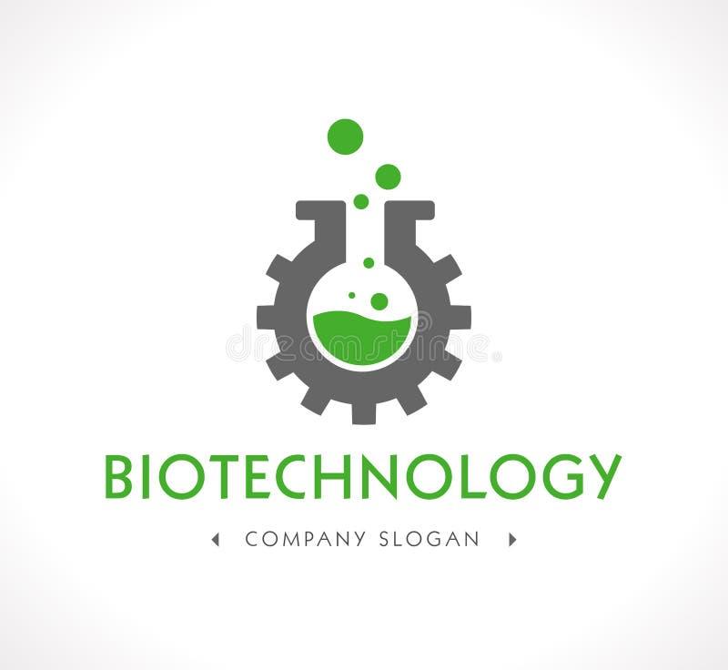 Logotipo - biotecnología ilustración del vector