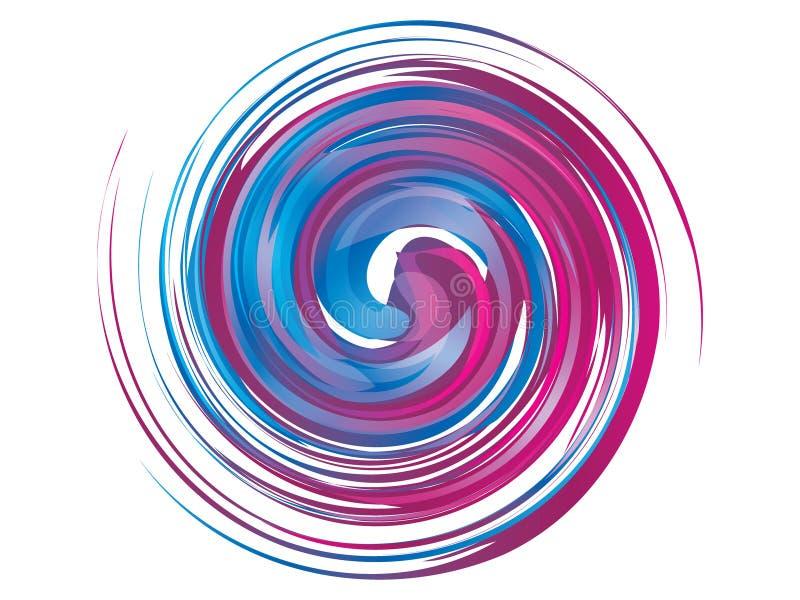 Logotipo blanco violeta azul abstracto del remolino libre illustration