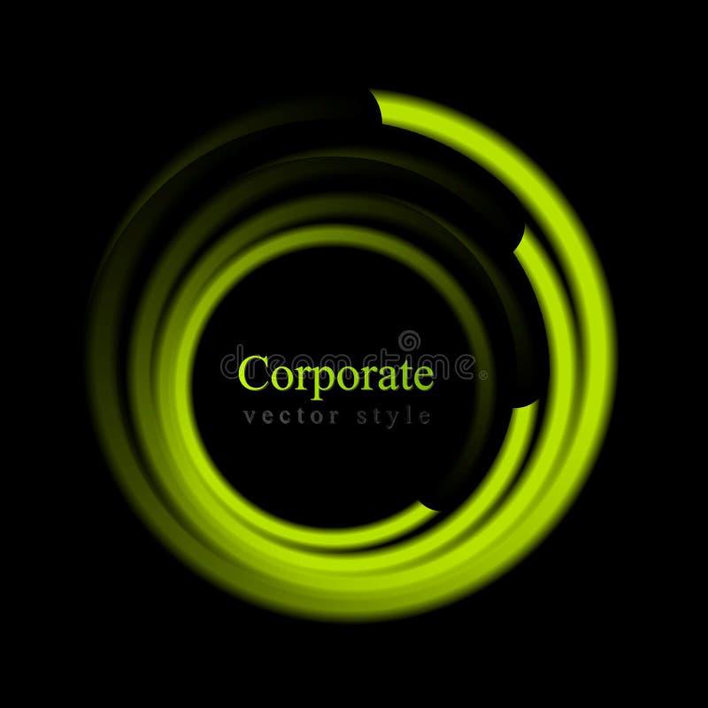 Logotipo brilhante abstrato do círculo do redemoinho ilustração royalty free