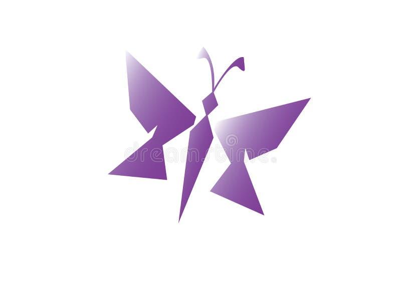 Logotipo brilhante e elegante bonito e simples da borboleta ilustração do vetor