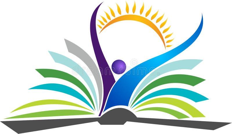 Logotipo brillante de la educación stock de ilustración