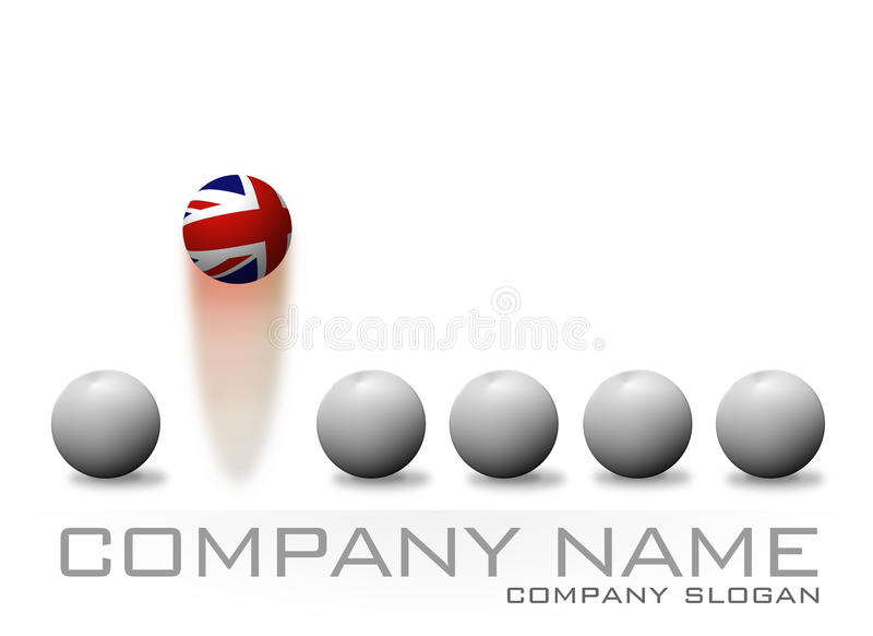 Logotipo British Bouncing Ball Company ilustración del vector