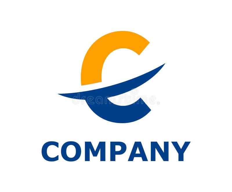 Logotipo c del alfabeto de la rebanada ilustración del vector