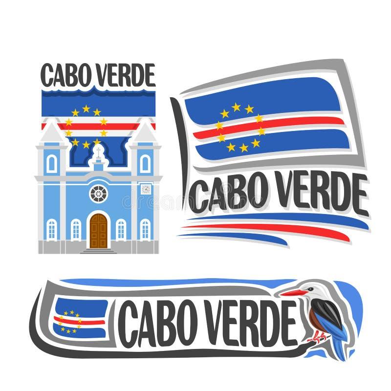 Logotipo Cabo Verde del vector ilustración del vector