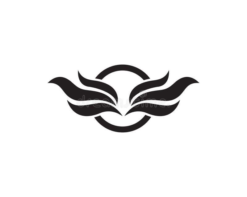 Logotipo caliente del fuego y de las alas libre illustration