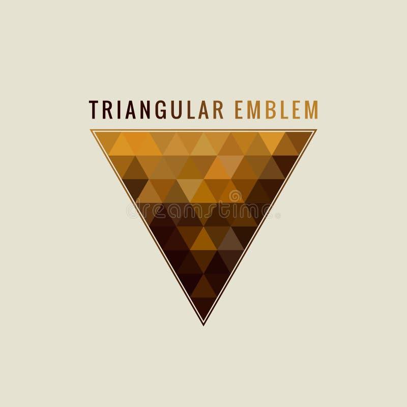 Logotipo caligráfico do triângulo Linhas ornamento do ouro da etiqueta Do vintage luxuoso do emblema do restaurante projeto de ca ilustração do vetor