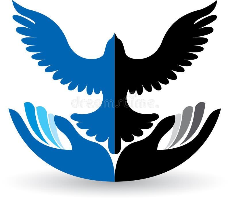 Logotipo calmo ilustração royalty free