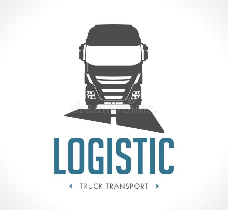Logotipo - caminhão logístico ilustração do vetor