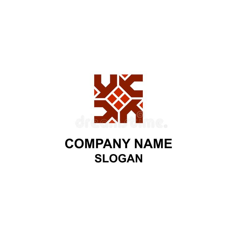 Logotipo casero abstracto con la letra de H libre illustration