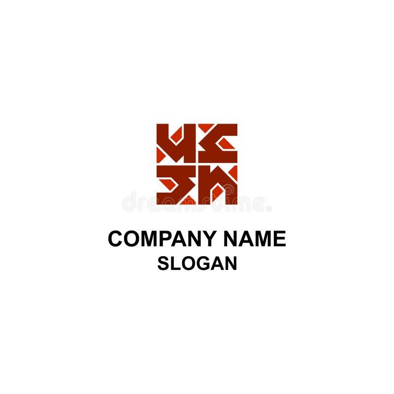 Logotipo casero abstracto con la letra de H stock de ilustración