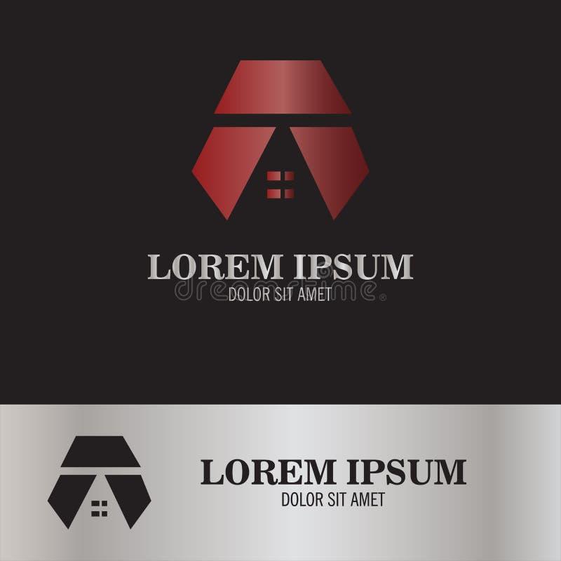 Logotipo casero de la letra A ilustración del vector