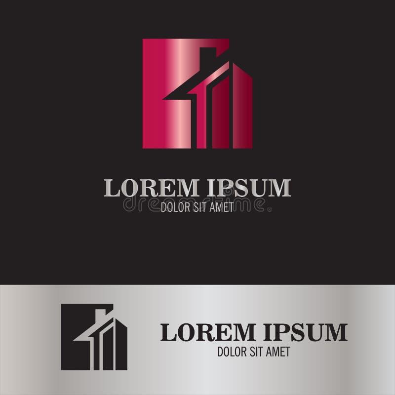 Logotipo casero de la letra N stock de ilustración