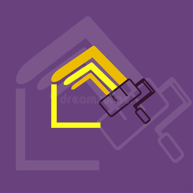 Logotipo casero de la pintura stock de ilustración