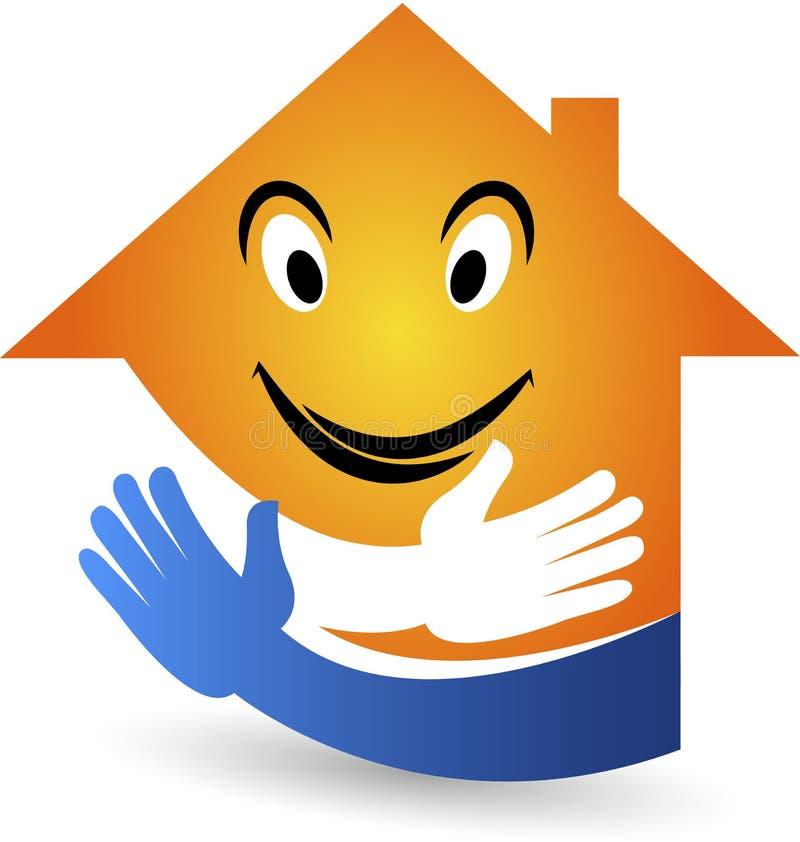 Logotipo casero de la sonrisa stock de ilustración