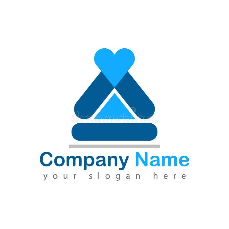 Logotipo casero de la yoga en blanco ilustración del vector