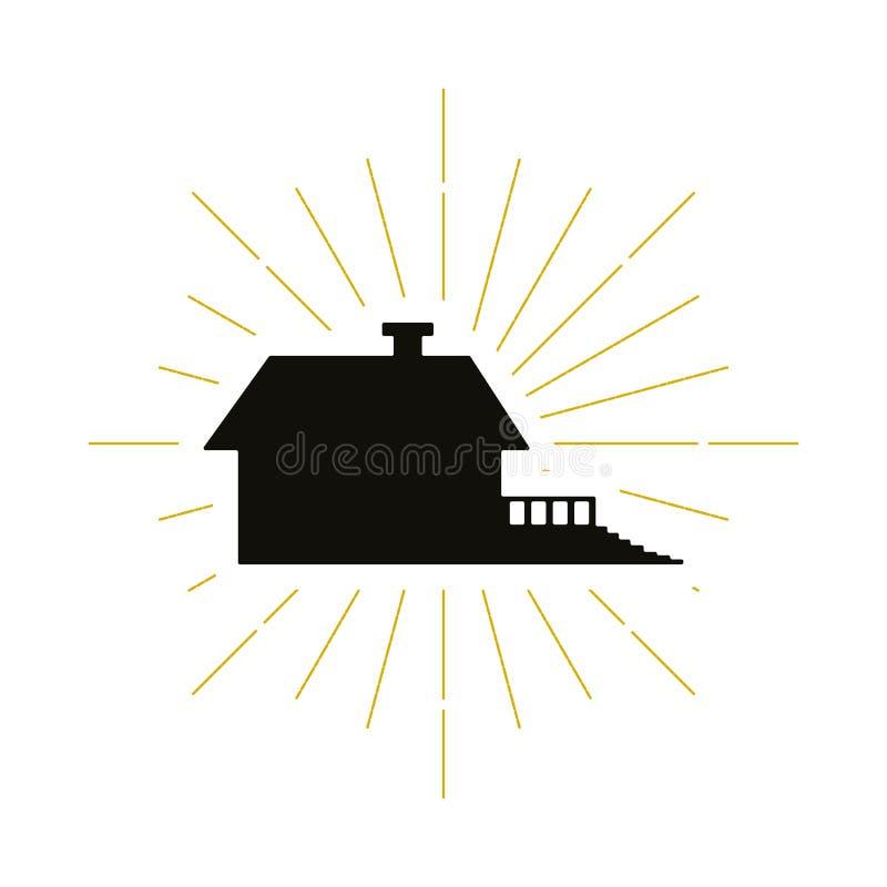 Logotipo casero retro de la silueta libre illustration